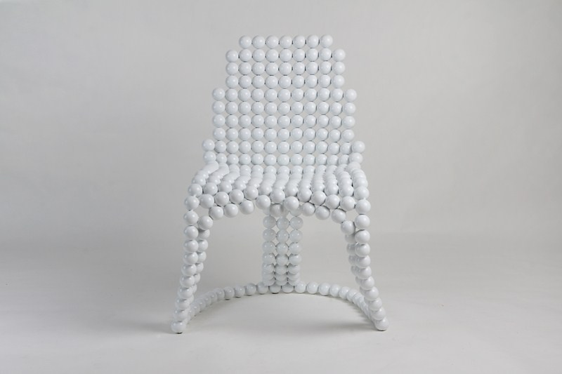 kugelsessel etwas anderes design in weiss. Black Bedroom Furniture Sets. Home Design Ideas